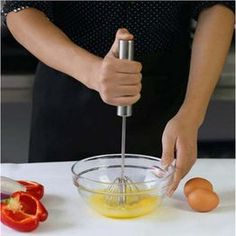 Stainless Steel Semi-automatic Rotation Eggbeater Hand Pressure Egg Mixer Egg Stiring Tool