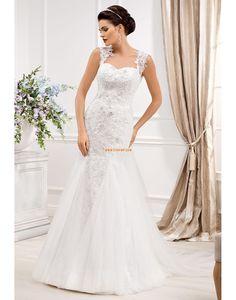 Träger Tülle Natürlich Brautkleider 2014
