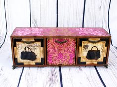 Mini Chest of Drawers Fashion Journeypatterned by Alenahandmade