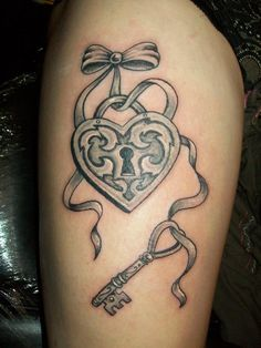 My thigh tattoo - key to my heart, represents me and my partner <3
