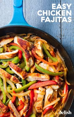 Nothing beats that sizzling sound of fajitas. #recipe #skillet #simple #easy #howtomake Easy Cheap Dinner Recipes, Easy Chicken Dinner Recipes, Cheap Dinners, Cheap Recipes, Fast Recipes, Simple Recipes, Weeknight Dinners, Dip Recipes, Easy Dinner Recipes