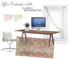 #spon An office redesign is a quick and fun weekend project with fresh paint colors from Clark+Kensington for Ace Hardware. #HelloBeautiful