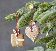 These cookies are great for getting the kids involved in cooking, and they will look great on the tree too