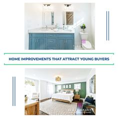 Young buyers are looking for properties in move-in condition and want to avoid the expense of significant repairs. Curtains Or Shades, Real Estate Buyers, Kitchen Upgrades, Outdoor Light Fixtures, Dark Walls, Blue Pictures, Color Tile, Young Adults