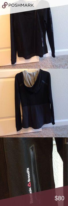 Reebok CrossFit jacket Black, side-zip Reebok CrossFit jacket, never worn. Reebok CrossFit Jackets & Coats