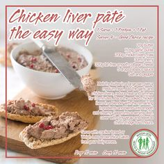 Meat Recipes, Chicken Recipes, Snack Recipes, Cooking Recipes, Healthy Recipes, Snacks, Savoury Recipes, Recipies, Chicken Liver Pate