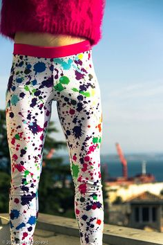 ZOE LEGGINGS  Cutting edge designer leggings in limited editions. Made of polyester and elastane, extra stretchy, comfortable and warm  HAND MADE