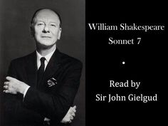 Sonnet 2 by William Shakespeare - Read by Sir John Gielgud - YouTube
