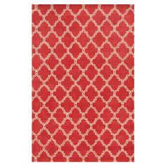 Add a pop of pattern to your living room or den with this lovely wool rug, showcasing a quatrefoil motif for eye-catching appeal.  P...