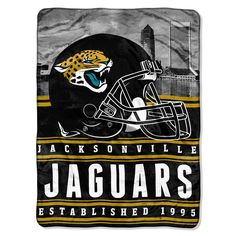 Jacksonville Jaguars NFL Silk Touch Throw (Stacked Series) (60inx80in)