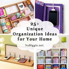 25+ organization ideas for the home | NoBiggie.net