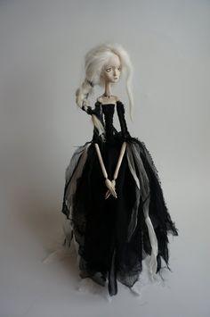 ooak art doll...B bereaves Bronagh by burymebaubles on Etsy