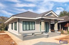 Affordable three-bedroom bungalow - Ulric Home Bungalow House Plans, Bungalow House Design, New House Plans, Three Bedroom House, One Bedroom, White Wall Paint, One Storey House, Adams Homes, Off White Walls