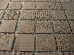 textured ceramic tile production by Gary Jackson : Fire When Ready Pottery