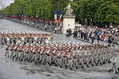Soldiers from the French Foreign Legion (Legion Etrangere) take part in the annual Bastille Day military parade in Paris July 14, 2010.