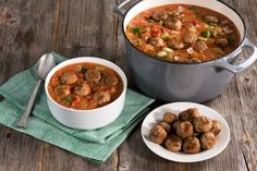 Here's a recipe for gumbo with meatballs that will be a hit at your next party! Just add Farm Rich Original Meatballs to make this delicious dish. You'll love it!