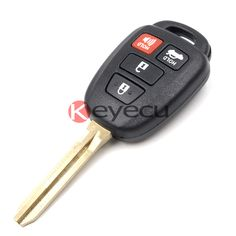 Uncut Remote Key Fob With H Chip for Toyota Corolla 2014-2015 FCC ID:HYQ12BEL