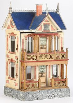 German Paper Litho Dollhouse