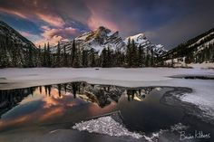 Mt Kidd, Canadian Rockies ~ by Cascade Creations