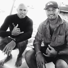 Nothing like a little friendly rivalry between Quiksilver riders @Kelly Teske Goldsworthy Slater and @freddyp808 to spice things up at the #BillabongPro. Here they are on a boat in the channel at Teahupoo just moments ago. Watch these two battle it out in the quarterfinals coming up shortly. Photo: @Stephen McElhinney Bell