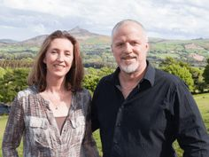 Pamela and Brett of Móinér - Wicklow Way Wines We Make Up, Christmas Hamper, Wines, Giveaway, Ireland, Irish, Couple Photos, Couple Shots, Irish Language