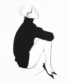 38 Ideas for tattoo watercolor black and white fashion illustrations Art And Illustration, Garance Dore Illustration, Fashion Illustration Sketches, Fashion Sketches, Fashion Drawings, White Fashion, Fashion Art, Fashion Styles, Illustrators