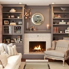 Entertainment Wall Units With Fireplace Design Ideas, Pictures, Remodel and…