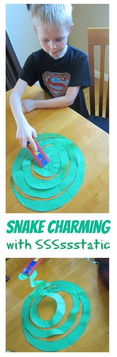Relentlessly Fun, Deceptively Educational: One Very Charming Snake [a Static Electricity Experiment]