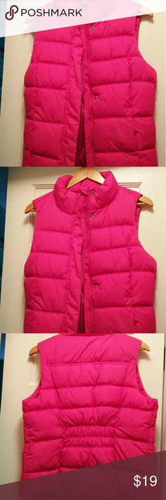 Gap Pink puffer vest Brand new Gap pink puffer vest with tag still on. Perfect for a pop of color in the fall! GAP Jackets & Coats Vests