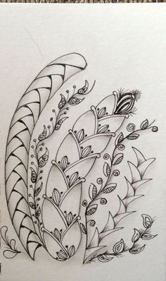 by unnamed participant, Zentangle Project, via a school id'd as RHS