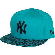 New Era 9FIFTY Snapback Women Spring Leopard NY Yankees teal/black ★★★★★