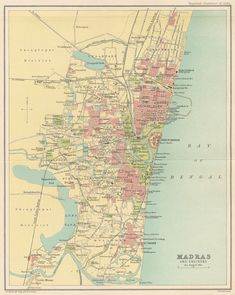 Inset Mumbai Bombay Chennai Madras Humorous West India Showing Native States 1909 Map