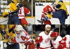 Bertuzzi says Don't worry Hank I won't let anyone hurt you. Detroit Hockey, Detroit Sports, Detroit Red Wings, Steve Yzerman, Winged Girl, Red Wings Hockey, Hockey Season, Go Red, Just For Men