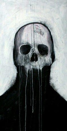 Skull illustration by Mr Four Fingers Arte Horror, Horror Art, Dark Fantasy Art, Dark Art, Arte Obscura, Skull Illustration, Macabre Art, Creepy Art, Skull Art