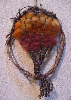 """tree weaving project. Repinned by Elizabeth VanBuskirk on """"Weaving & Art Teaching Ideas."""""""
