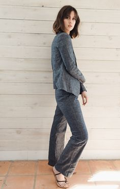 These wide-led pants were made in Kenya using local resources.