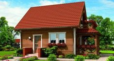 Pin on parasztház Perspective Pictures, Copper Roof, Simple House, Home Fashion, Log Homes, Tiny House, Gazebo, House Plans, Farmhouse