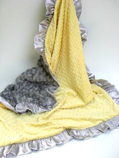 Baby Shower Haul Yellow and Charcoal Gray Minky Blanket Many Sizes Available Baby Needs List, Dream Kids, Grey Baby Shower, Baby Bunting, Crib Sets, Minky Blanket, Future Baby, Baby Love, New Baby Products