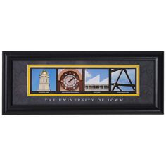 Iowa Hawkeyes Letter Art Print - Iowa