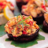 crab stuffed portabellas - now I can handle this!