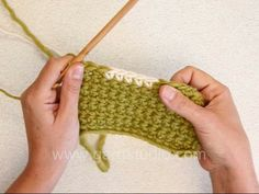 How to crochet back and forth with two colors