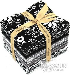 Tuxedo fat quarter bundle  by Riley Blake. Would make an awesome black and white quilt!