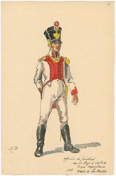 Naples; 11th Line Infantry, Fusilier Officer, 1813
