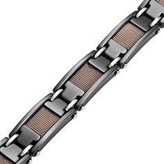 R&B Jewelry Amazing Bronze Black Rail Heavy Solid Tungsten Carbide Men's Link Bracelet R&B Jewelry http://www.amazon.com/dp/B00F21MP3M/ref=cm_sw_r_pi_dp_hLBlub1VEAMX0