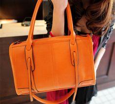 retro orange handbag.