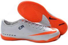 Nike Mercurial Vapor VI IC CR Personal Mens Indoor Soccer Shoes White Black Total Orange
