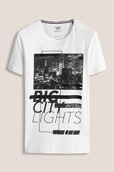 Esprit / Jersey-Shirt mit Print und Ausbrennern   DM T-shirt, Graphic Design  & Illustrations   Pinterest   Graphic design illustration