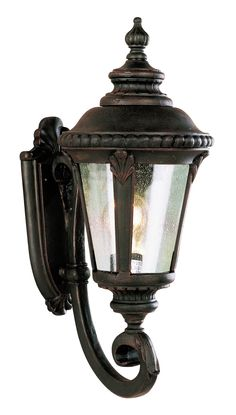 "Trans Globe Lighting 5040 RT Stonebridge 19"" Wall Lantern In Rust"