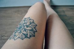 Floral Mandala Done By Lukas Solik http://tattoos-ideas.net/floral-mandala-done-by-lukas-solik/ Flowers Tattoos, Girly Tattoos, Leg Tattoos, Mandala Tattoos