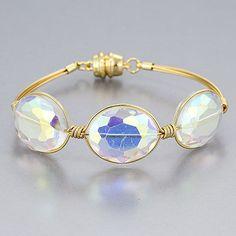 Gold Wire Wrapped Oval Ab Stone Magnetic Bohemian Style Bangle Bracelet in Jewelry & Watches, Fashion Jewelry, Bracelets | eBay $12.49